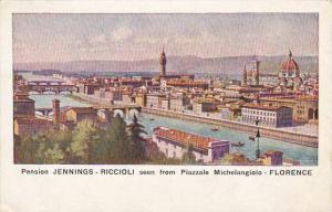 Italy Firenze Pension Jennings-Ricciolo Seen From Piazzale Michelangelio
