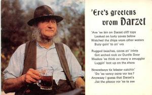 Old Man Drink Beer 'Ere's greetens vrom Darzet, Greetings from Dorset