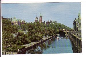 Rideau Canal, Parliament Buildings, Ottawa, Ontario,
