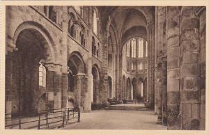 France Abbaye du Mont Saint-Michel Interieure de l'Eglise Romane