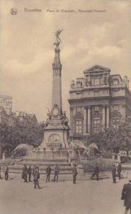 Belgium Brussels Monument Anspach 1928