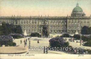 Berlin Germany, Deutschland Postcard Konigl, Schloss u Lustgarten  Konigl, Sc...