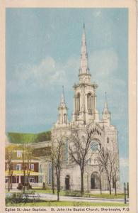 Exterior,  St. John's Baptist Church,  Sherbrooke,  Quebec,   Canada,   30-40s