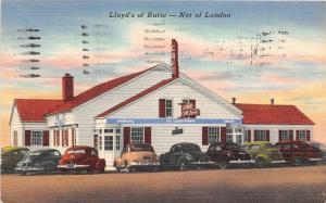 D57/ Butte Montana Mt Postcard 1952 Lloyds of Butte Restaurant Cafe Linen