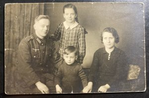 Mint Germany Real Photo Postcard Cover RPPC Soldier Family Portrait