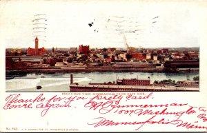 Minnesota Minneapolis Birds Eye View From East Side 1905