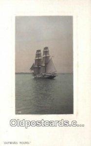 Sailboat 1909 postal used 1909