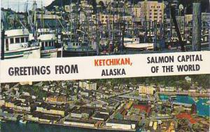 Alaska Greetings From Ketchikan Salmon Capitol Of The World 1960