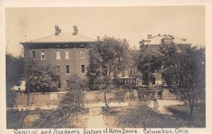 Columbus Ohio~Sisters of Notre Dame Convent & Academy~RPPC c1910 Postcard