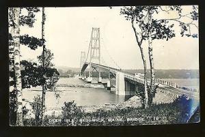 Sedgwick, Maine/ME Postcard, Deer Isle, Bridge, 1951!