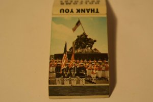 Holcomb Brothers Cartersville Georgia Marines Flags 20 Strike Matchbook Cover