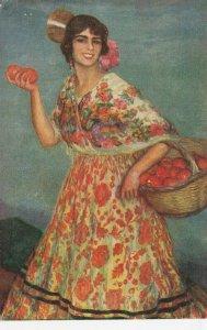 Woman portrait , 1900-10s ; #30A ; Artist Juan Cardona