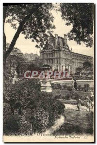 Old Postcard Paris Le Pavillon de Rohan and the Tuileries Gardens