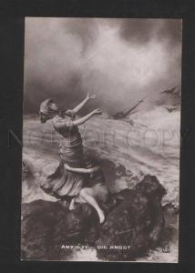 055287 Anchor on Sky STORM by MASTROIANNI old Allegorie #138