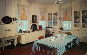 Prairie du Chien Wisconsin~Villa Louis Interior~Dousman's Kitchen~1960s Postcard