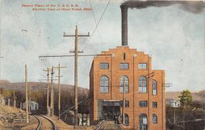 E82/ West Point Ohio Postcard Columbiana Co 1913 Power Plant Y&O Railroad 1