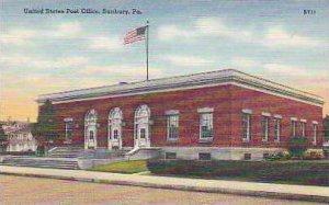 Pennsylvania Sunburry United States Post Office