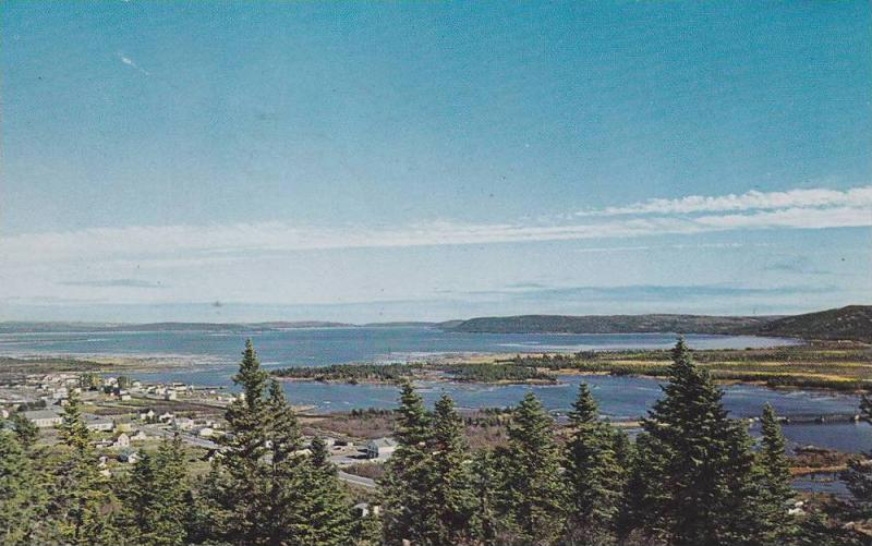 Panoramic View of Freshwater Bay, and the communities of Gambo, Deep Cove & M...