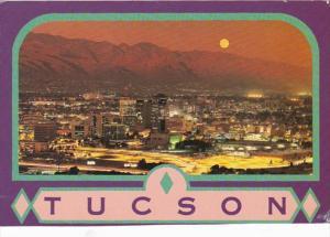 Arizona Tucson Skyline By Moonlight 1996