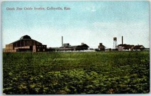 Coffeyville, Kansas Postcard OZARK ZINC OXIDE SMELTER c1910s Unused