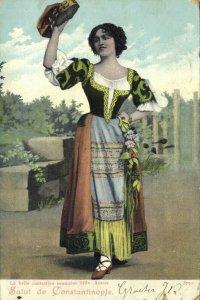 turkey, CONSTANTINOPLE, Beautiful Romanian Singer Mile Anette (1899) Postcard