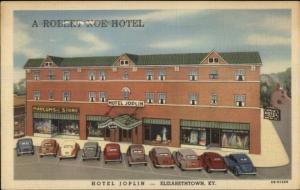 Elizabethtown KY Hotel Joplin Linen Postcard