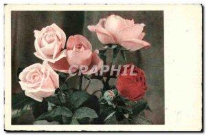 Old Postcard Fantasy Flowers Roses