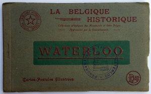 VINTAGE 10 POSTCARDS ALBUM OF WATERLOO. Printer: Desaix. UNUSED!!!