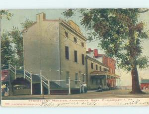 Pre-1907 STRAWBERRY MANSION Philadelphia Pennsylvania PA W5013