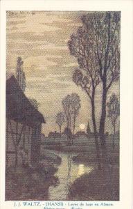 J. J. Waltz, HANSI, Lever de lune, Rising moon, ALSACE, France, 00-10s
