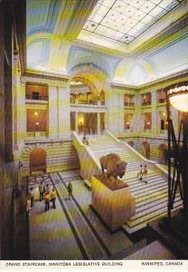 Canada Grand Staircase Legislative Building Winnipeg Manitoba