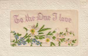 Hand Sewn, 1900-10s; To the One I love, flowers