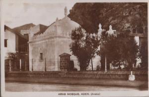 Aden Yemen Mosque Real Photo Vintage WW2 Postcard
