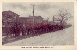 OVER SEAS MEN ARRIVING, CAMP MERRITT, N. J.