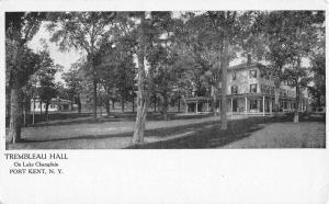 Port Kent New York Trembleau Hall Street View Antique Postcard K57804