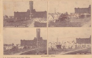 GREAT LAKES , Illinois, 1918; Artillery Drill, Four Views