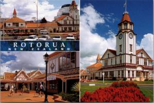 Tourism Rotorua Centre Rotorua New Zealand NZ Unused Vintage Repro Postcard D45