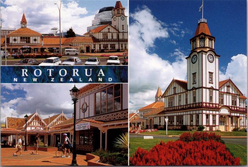 Tourism Rotorua Centre Rotorua New Zealand NZ Unused Vintage Repro Postcard D45