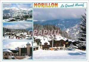 Modern Postcard Le Grand Massif Morillon Haute Savoie