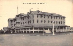 Spring Lake Beach New Jersey Hotel Allaire Street View Antique Postcard K102585