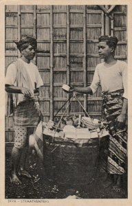 JAVA, Indonesia, 1900-1910's; Straatventers
