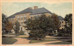 Cambridge Latin School, Cambridge, Massachusets, Early Postcard, Unused
