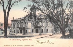 Plymouth Massachusetts~County Court House~Homes Behind~1905 Postcard