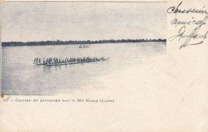 Course De Pirogues Sur Le ME KONG, LAOS, Asia, PU-1904