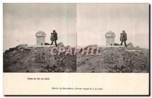 Stereoscopic Card - Crete Pic du Midi - Old Postcard