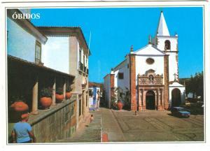 OBIDOS, Portugal, Santa Maria Church, 1995 used Postcard