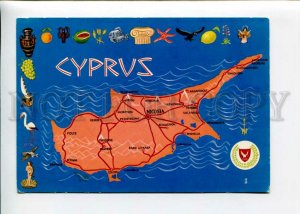 3142683 Map of CYPRUS Old postcard