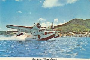 The Goose Airplane Taking Off Virgin Islands Airboats Postcard