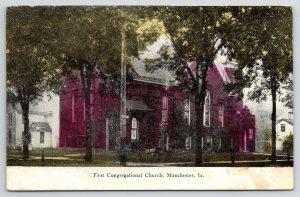 Manchester Iowa~First Congregational Church (Now Christ Community Church) c1910