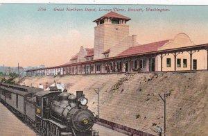 Washington Everett Train At Great Northern Depot Lower View sk6273